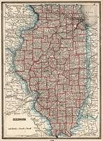 Vintage Map of Illinois (1893)