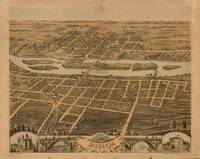 Vintage Pictorial Map of Batavia IL (1869)