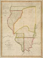 Vintage Map of Illinois (1818)