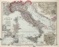 Vintage Map of Italy (1878)
