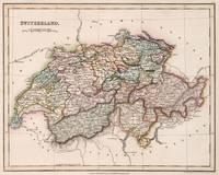 Vintage Map of Switzerland (1832)