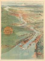 Vintage Pictorial Map of Portland OR (1896)
