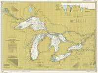 Vintage Map of The Great Lakes (1979)