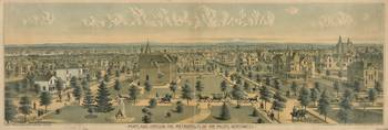 Vintage Pictorial Map of Portland Oregon (1888)