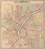 Vintage Map of Rockford IL (1886)