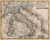 Vintage Map of Italy (1659)
