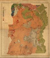 Vintage Geological Map of Yellowstone National Par