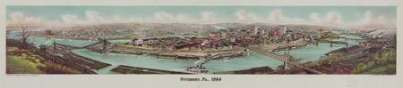 Vintage Pictorial Map of Pittsburgh PA (1904)