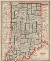 Vintage Map of Indiana (1883)