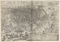 Vintage Pictorial Map of Cairo Egypt (1575)