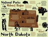 North Dakota National Parks Infographic Map
