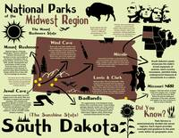 South Dakota National Parks Infographic Map
