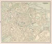 Vintage Map of Vienna Austria (1901)