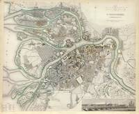 Vintage Map of St Petersburg Russia (1834)
