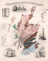 Vintage Geological Map of Scotland (1850)