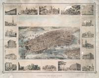 Vintage Pictorial Map of New York City (1851)