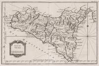 Vintage Map of Sicily Italy (1764)