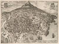 Vintage Map of Catania Italy (1597)