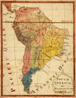 Vintage Map of South America (1816)