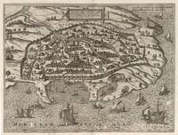 Vintage Map of Alexandria Egypt (1575)