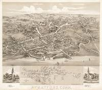 Vintage Pictorial Map of Stratford CT (1882)