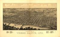 Vintage Pictorial Map of Terre Haute IN (1880)