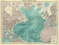 Vintage Map of The Atlantic Ocean (1922)