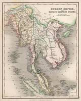 Vintage Map of The Burmese Empire (1832)