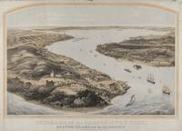 Vintage Pictorial Map of New York City Harbor (185