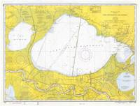 Vintage Map of Lake Pontchartrain (1971)