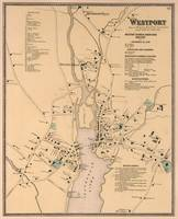 Vintage Map of Westport CT (1867)