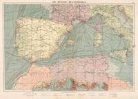 Vintage Map of The Eastern Mediterranean Ports (19