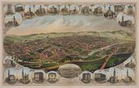 Vintage Pictorial Map of York PA (1879)