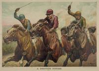 Vintage Finish Line Horse Jockeys Illustration (18