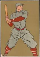 Vintage Baseball Player Illustration (1908)