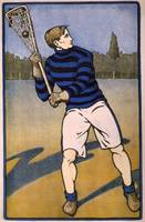 Vintage Illustration of a Lacrosse Player (1905)