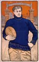 Vintage Football Player Illustration (1902)