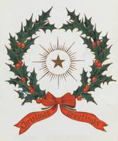 Vintage Christmas Greetings Wreath (1906)