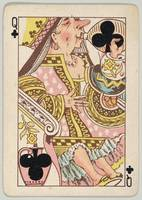 Vintage Queen of Clubs Playing Card (1889)