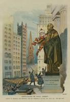 Vintage Santa Claus on Wall Street Illustration (1