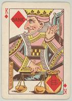 Vintage King of Diamonds Playing Card Illustration