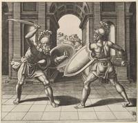 Vintage Gladiator Sword Fight Illustration (1560)