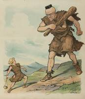 Vintage David Versus Goliath Illustration (1905)