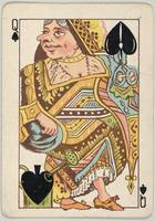 Vintage Queen of Spades Playing Card (1889)
