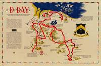 Vintage Omaha Beach D-Day Invasion Map (1945)