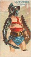 Vintage Illustration of a Gladiator (1887)