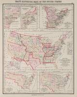 Vintage United States Land Acquisitions (1884)