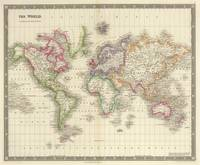 Vintage Map of The World (1844)