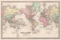 Vintage Map of The World (1874)