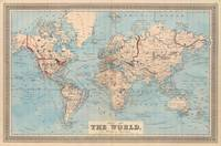 Vintage Map of The World (1876)